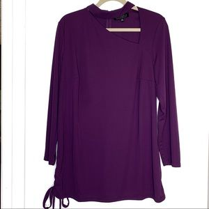 Eloquii purple cut out blouse sz 14/16